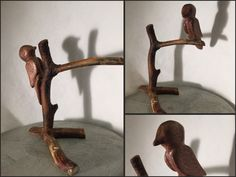 Magnetic movable bird. Hand carved. Teak, random branches and neodymium magnets. #mywork