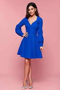 StarShinerS--Artista blue cloche dress with Katrina Kaif, Look Alike, Special Events, Neckline, Spring, Blue, Beautiful, Dresses, Artists