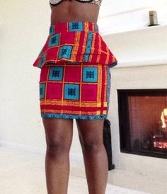 Beautiful authentic African pendulum print skirt  $49.99