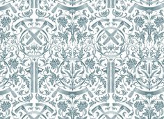 The Terrier and Lobster: Dan Funderburgh Clever Toile Wallpaper