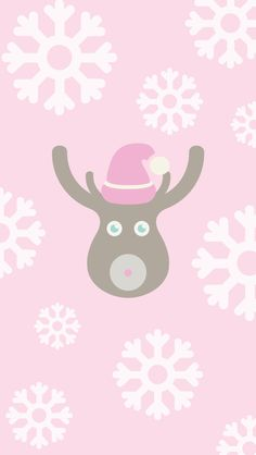 Christmas Reindeer ★ Find more Seasonal Cell phone Wallpaper / Background re-sizeable for all cells phones. @prettywallpaper