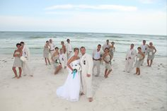 Beach wedding party  photo cred to Carmen Tedder...  Carmentedder.com