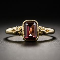 English Rhodolite Garnet Ring