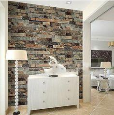 Modern 3d Stone Brick Wallpaper Dining room,Kitchen,Bathroom,Office Background Wall Wallpaper Emboss Waterproof Vinyl Brick