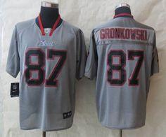 Nike New England Patriots 87 Gronkowski Lights Out Grey Elite Jersey $ 22.5
