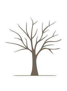 DIY Fingerprint Tree Poster - Instant Download - Small