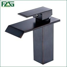63.99$  Buy now - http://ali7uv.worldwells.pw/go.php?t=32767155992 - FLG Basin Faucet Oil Rubbed Bronze Sink Taps,Square Waterfall Cold Hot Vessel Faucet Sink Mixer Robinet,Home Decoration M220O 63.99$