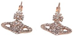 Vivienne Westwood Grace Bas Relief Earrings - Pink/Gold | Pink/Gold Vivienne Westwood Earrings | KJ Beckett