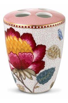 Show details for Floral Fantasy toothbrush holder pink