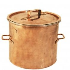 xx–SOLD! Copper stockpot, French, early-mid 19th century (III.226)