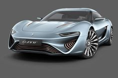 The spectacular QUANT E-Sportlimousine was first presented at the 2014 Geneva motor show back in March as a concept vehicle, but now the four seater electric sportscar has just been approved for use on public roads. The car was developed by Swiss com Tesla Roadster, Tesla Motors, Automobile, Bike Handlebars, Geneva Motor Show, Sports Sedan, Car Magazine, Futuristic Cars, Wearable Technology