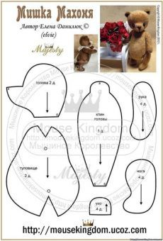 my child doll dimensions Animal Sewing Patterns, Stuffed Animal Patterns, Diy Stuffed Animals, Doll Patterns, Bear Patterns, Teddy Beer, Teddy Bear Sewing Pattern, My Child Doll, Tilda Toy