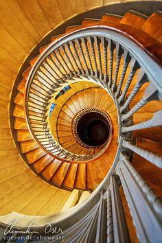 Treppe in Heal's Einrichtungshaus in London, United Kingdom