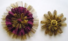 Loom Flowers from fabric