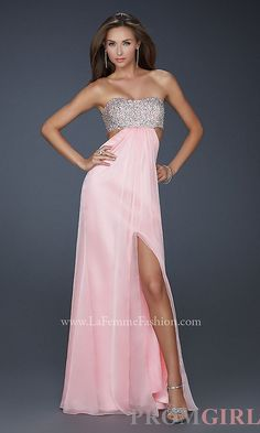 Strapless Beaded Evening Gown, Strapless Dress for Prom- PromGirl Grad 2014 | Big Fashion Show dresses for prom