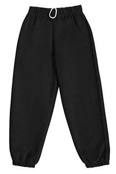 Kids Plain Jogging Bottom Warm Fleece Joggers Pants Childrens School PE Trouser