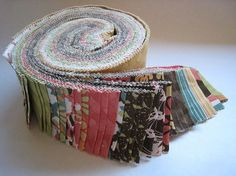 Lots of free quilt patterns using jelly rolls! There is one sitting on my shelf begging me to use it :)