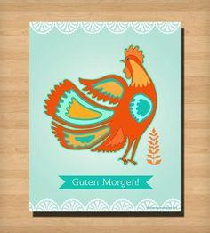 Guten Morgen Print by Misha Blaise Design on Scoutmob Shoppe