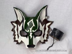 Twilight Hero Wolf Leather Mask Halloween Burning Man Masquerade Cosplay