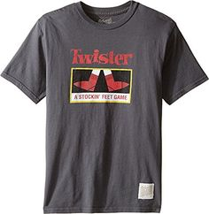 The Original Retro Brand Kids Boys Twister Vintage Cotton Short Sleeve Tee Big Kids Charcoal TShirt * To view further for this item, visit the image link.Note:It is affiliate link to Amazon.