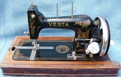 Vesta: Serial No. 1632968.   Another example of this 3/4 size machine, but in a slightly different form which is generally known as Saxonia which made almost at the same time as the previous machine.