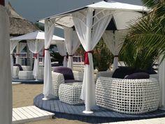 Rainy day sun at Vega Beach Vintage Bar.  Mamaia, Romania