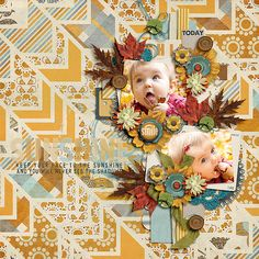 Sunflower Page Kit by Forever Joy Designs http://scraporchard.com/market/Sunflowers.html   SKU FJ-SUNFLOWERS These Days Templates by Two Tiny Turtles https://www.pickleberrypop.com/shop/product.php?productid=29157&cat=0&page=1