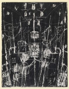 © 2020 Artists Rights Society (ARS), New York / ADAGP, Paris. Drawings and Prints Jm Basquiat, Jean Dubuffet, Black And White Words, Outsider Art, Moma, Art Techniques, Art Google, Painting Inspiration, Painting & Drawing