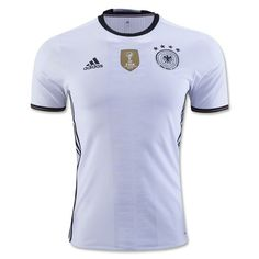 adidas Men's Germany 15/16 Authentic Home Jersey White/Black