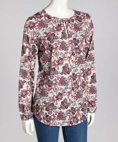Take a look at this Blue Renaissance Floral Top by Coupé on #zulily today! $17 !!
