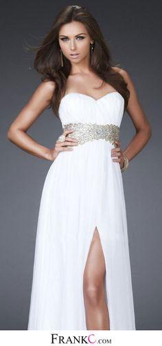 white prom dress,long prom dress