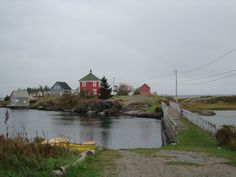 *Stonehurst Cove, Nova Scotia, Canada*  |Red house used in filming Jesse Stone series which starred Tom Selleck.|  {Photo Source: Tourist Chronicles: Around Lunenburg}