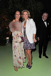 Left to right, SOPHIE de PICCIOTTO and CARINE MAVROLEON at a dinner hosted by Cartier in celebration of the Chelsea Flower Show held at Battersea Power Station, 188 Kirtling Street, London SW8 on 23rd May 2011.