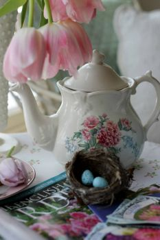 Gardeners tea. Aiken house and gardens.