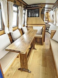 Plans For Boat Houses Info: 5715724972 Small Space Living, Tiny Living, Living Area, Small Spaces, Living Spaces, Barge Interior, Interior Design, Canal Boat Narrowboat, Canal Boat Interior
