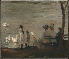 George Bellows (American, 1882–1925). Swans in Central Park, 1906. The…