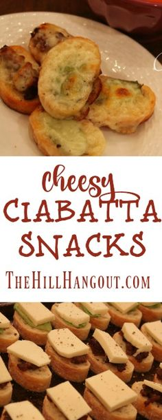 Cheesy Ciabatta Snacks from TheHillHangout.com
