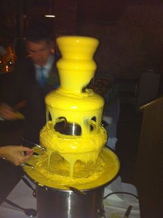 Coolest thing ever seen at a wedding reception -- nacho bar w/ cheese fountain!!!