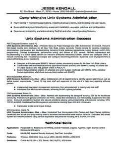 unix systems administrator system administrator resume includes a snapshot of the skills both technical and nontechnical skills of system administrator - Unix System Administration Sample Resume