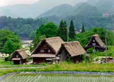 Japan: Sites and Culture - Historic Villages of Shirakawa-go and Gokayama. Located in a mountainous region that was cut off from the rest of the world for a long period of time, these villages with their Gassho-style houses subsisted on the cultivation of mulberry trees and the rearing of silkworms.