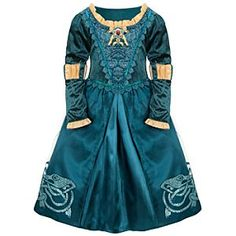 Disney Store Brave Merida Costume Dress Up Girls Size M 7 8 Emerald Green Gold… Brave Costume, Merida Costume, Costume Dress, Maleficent Costume, Disney Princess Merida, Brave Princess, Brave Disney, Princess Photo, Disney Princesses