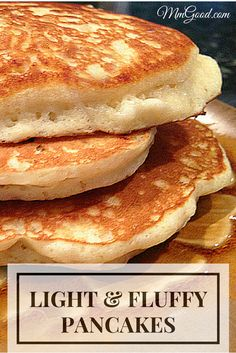 Light and fluffy pancakes with a secret ingredient to make them super fluffy, my number one recipe from my blog.  You will never again buy purchased mix and will make your own pancakes homemade every (Breakfast Recipes Pancakes)
