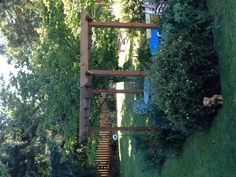 Grape Arbor, this was built this weekend and I love it! Planted Muscato grapes under it!!!
