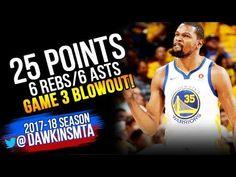 93fd4bfc81d5 Kevin Durant Full Highlights 2018 WCF GM3 Golden State Warriors vs Rockets  - 25-6-6!