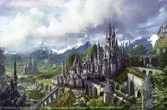 Castle of fantasies: Landscape - Castle (NikYeliseyev)