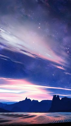 Fantasy Shiny Skyview Over Plain Mountains #iPhone #5s #wallpaper