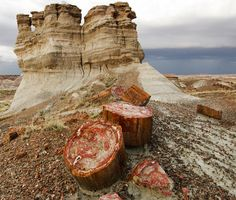 Old Highway 180 and Petrified Wood | Petrified Forest National Park, Arizona (pinned by haw-creek.com)