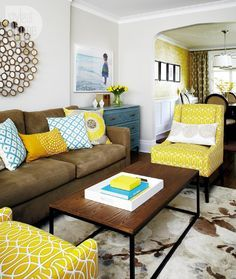Grey Brown And Yellow Living Room Ideas