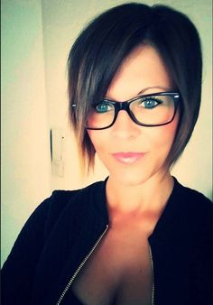 Brianna Sue pixie hairstyle with a glasses