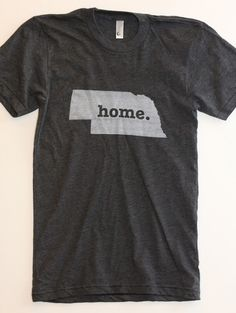 The #Nebraska Home T. Super soft, and a portion of profits are donated to multiple sclerosis research. (http://www.thehomet.com/nebraska-home-t-shirt)
